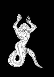 DandD - Yuan-ti abomination female by XD-e-R-r-A-C-i-A-zX