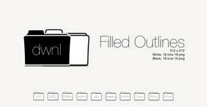 Filled Outlines - Folder by SL05NED