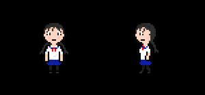Japanese Schoolgirl Walk Animation (W.I.P.)