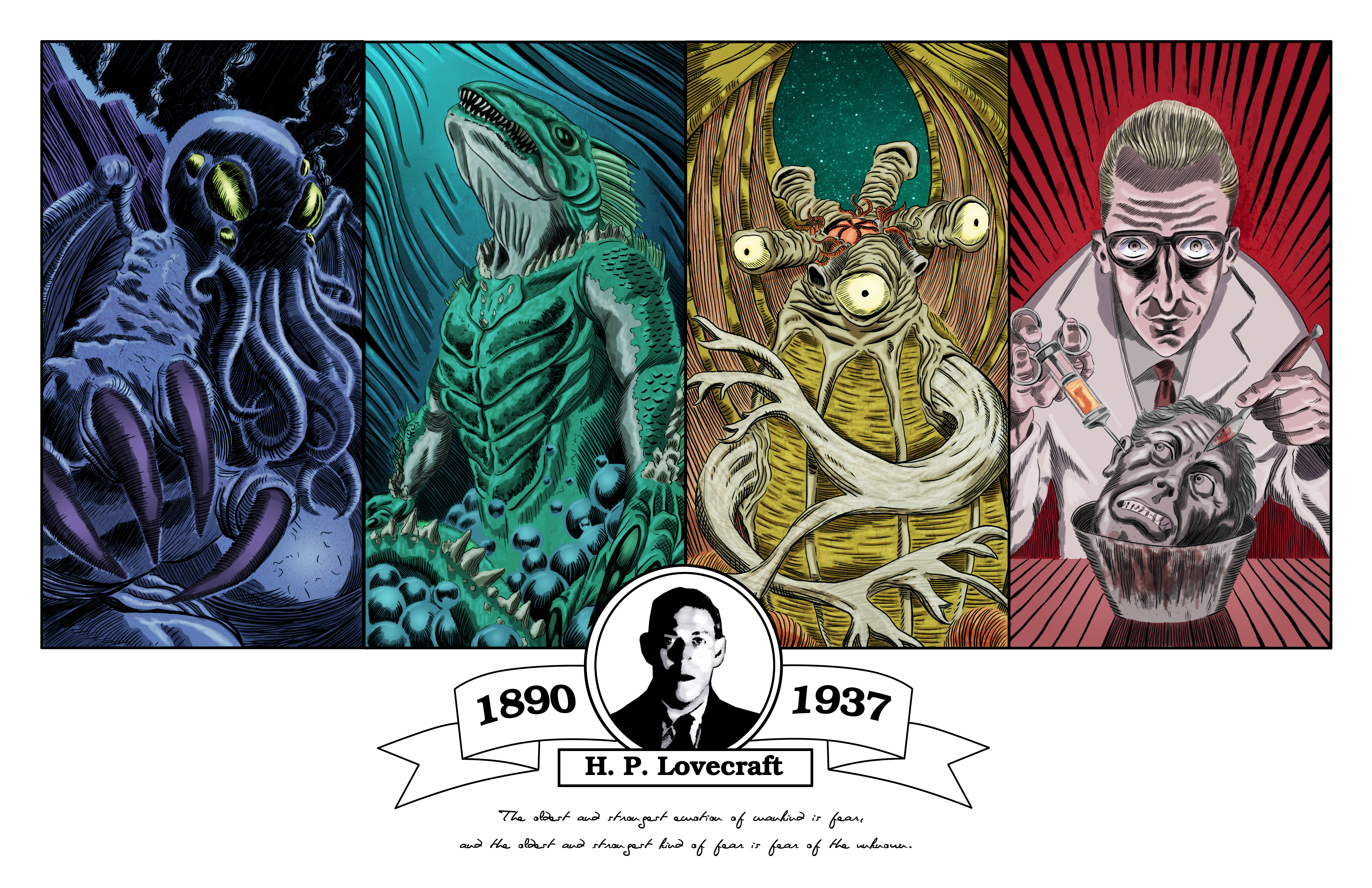 H P  Lovecraft Tribute by MDominic on DeviantArt