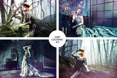 GIMP coloring #9 / Forest dreams
