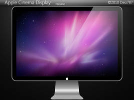 Apple Cinema Display PSD by Deiz787