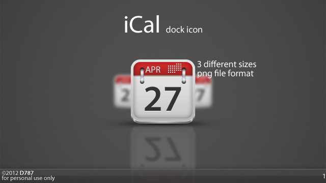 iCal Icon by Deiz787