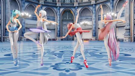 [MMD] TDA Ballet Dancers [Pack + DL] by Nightimevil