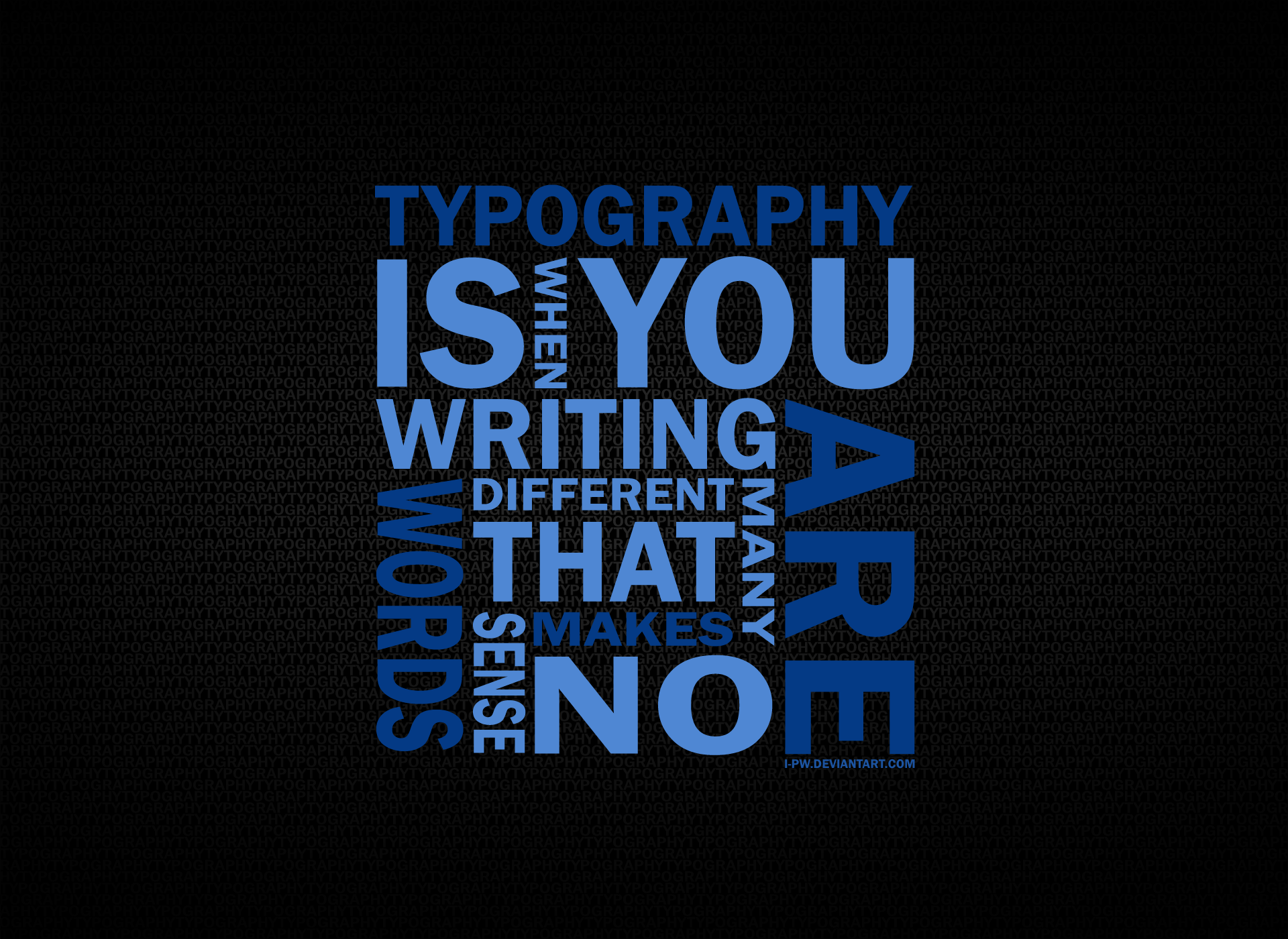 Typography WORD by wellgraphic