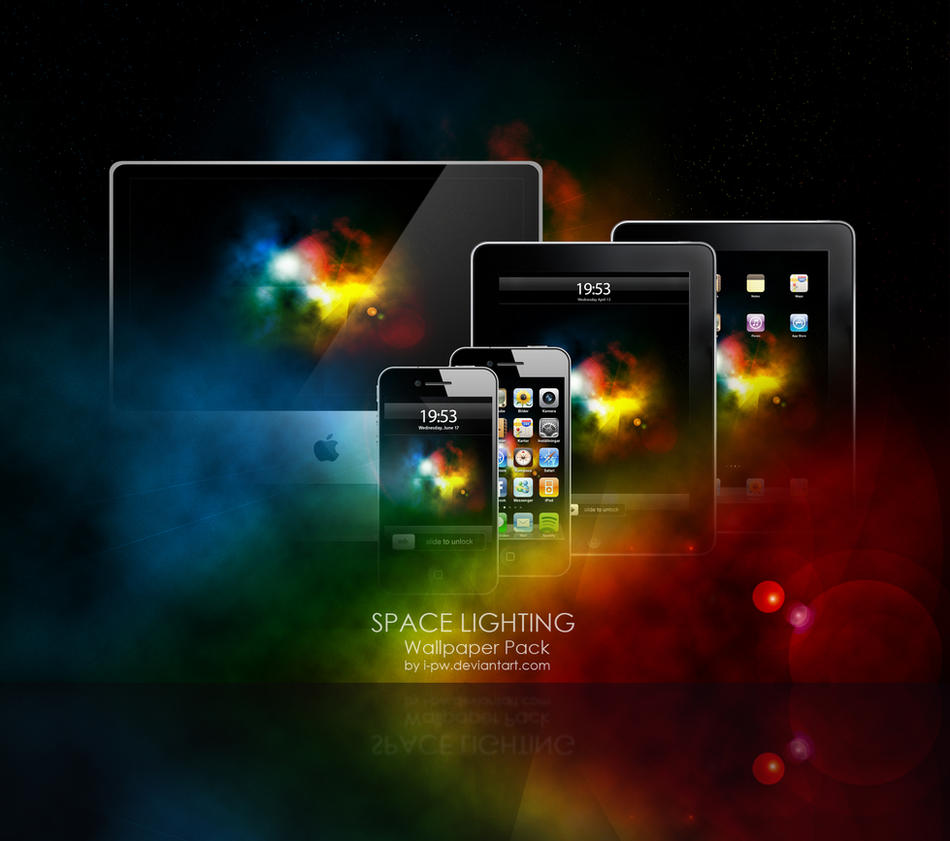 Space Lighting Wallpaper Pack by wellgraphic