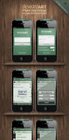 Deviantart iPhone App Concept by wellgraphic
