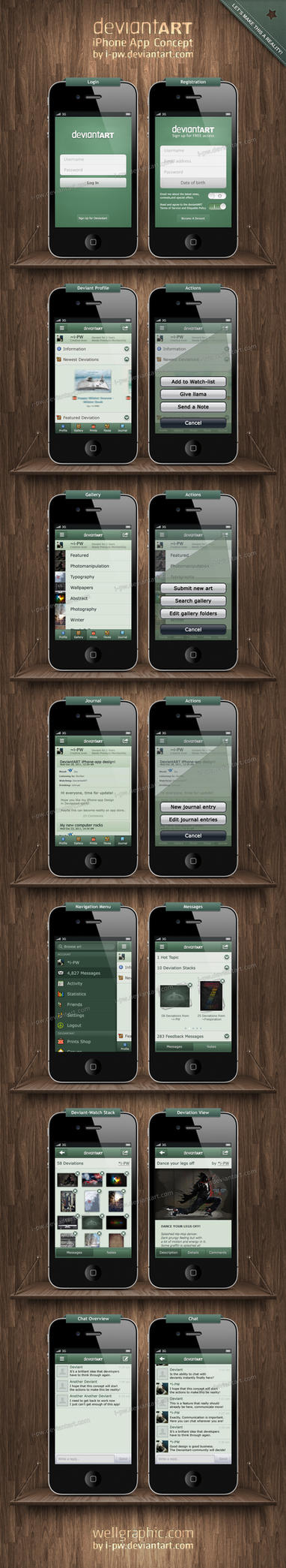 Deviantart iPhone App Concept by wellgraphic