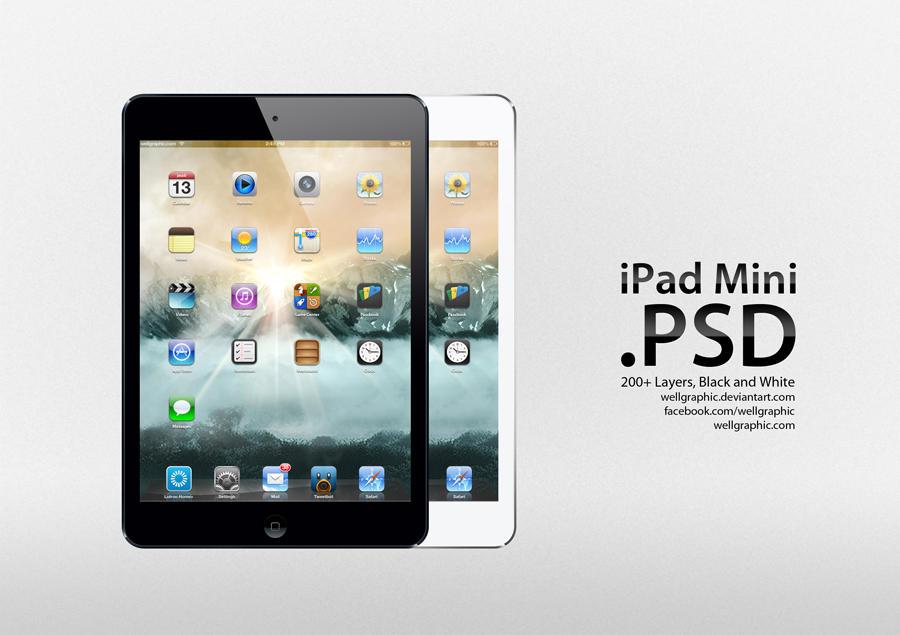Apple iPad Mini PSD by wellgraphic