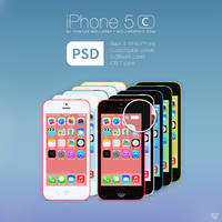 Apple iPhone 5C PSD by wellgraphic