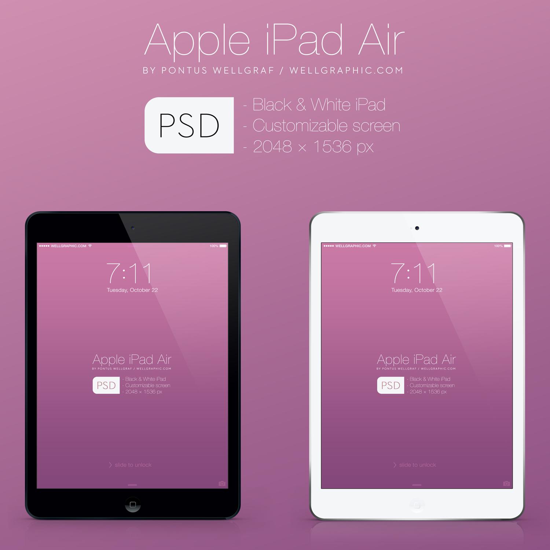 Apple iPad Air Mockup PSD by wellgraphic