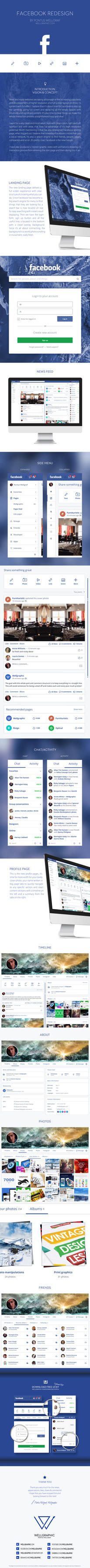 Facebook Redesign by wellgraphic