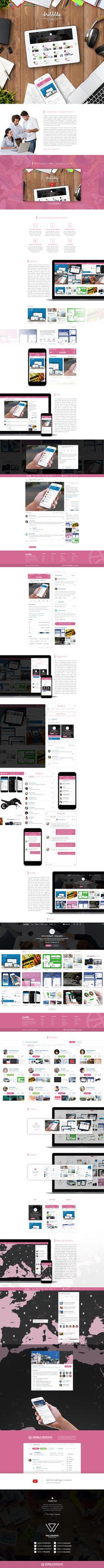 Dribbble Redesign by wellgraphic