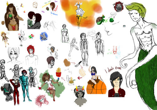 Massive Sketch Dump of Unsubmitted Works