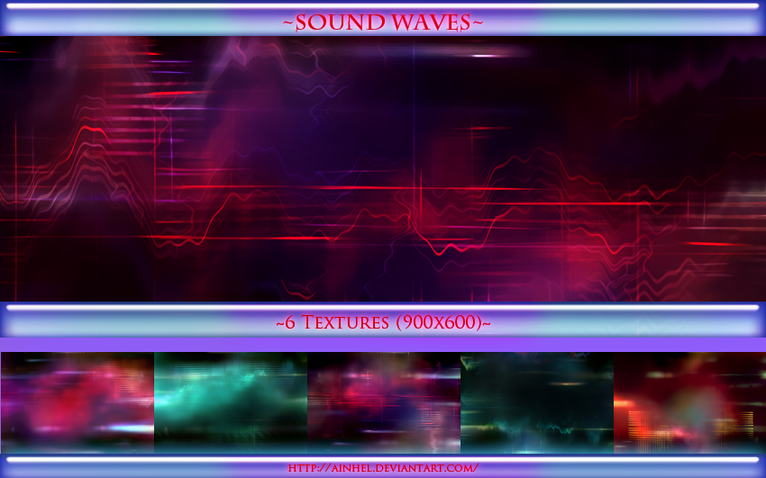 #12 Texture Pack (900x600) - Sound Waves