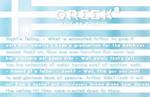 Greek font