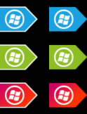 Microsoft Metro Start Orbs by jeremebp