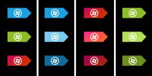 Small taskbar Metro orbs