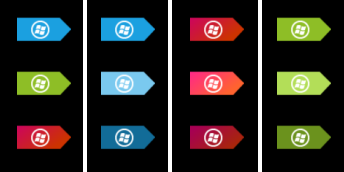 Small taskbar Metro orbs by jeremebp
