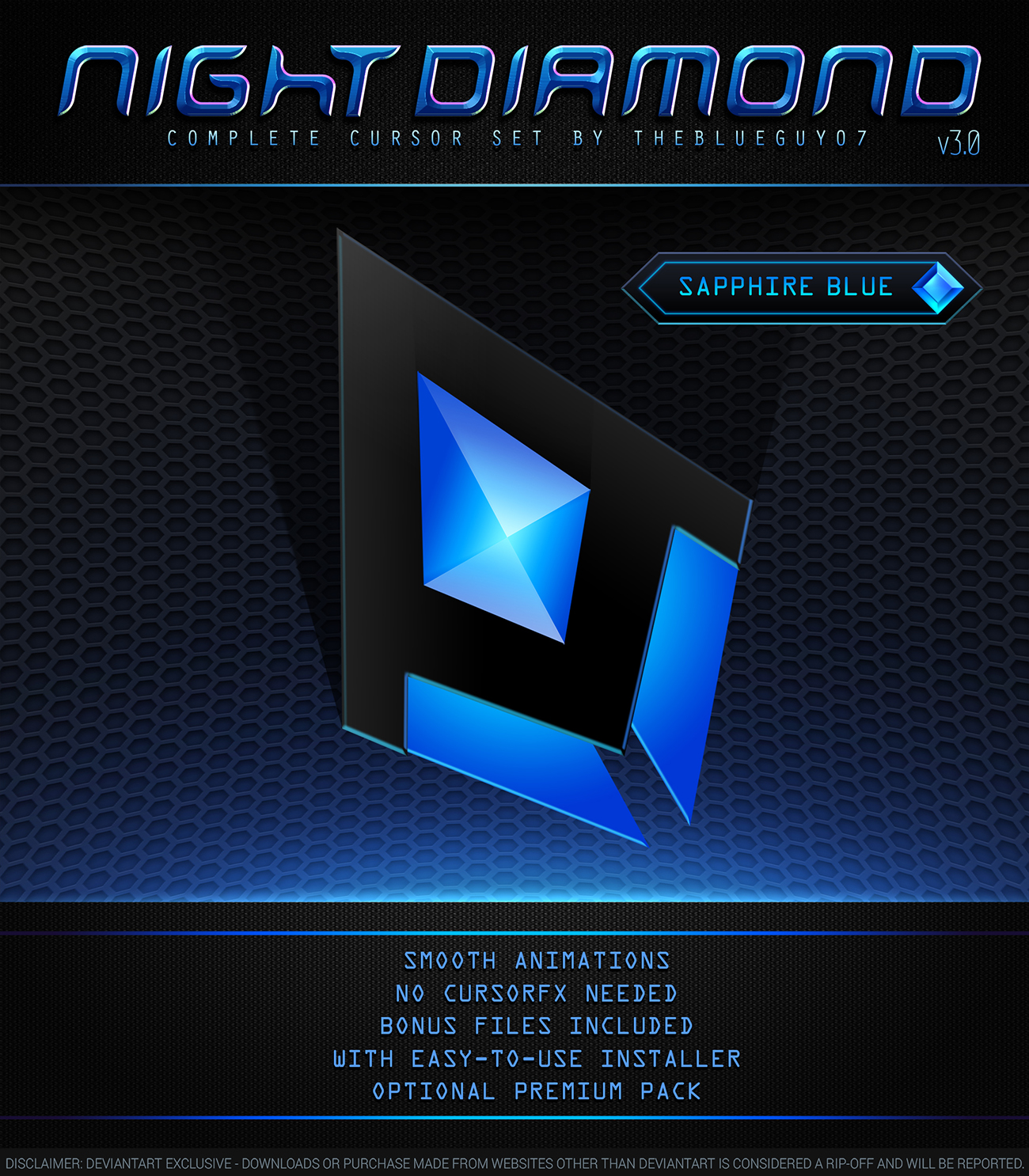 Night Diamond v3 0 | Sapphire Blue by BlooGuy on DeviantArt