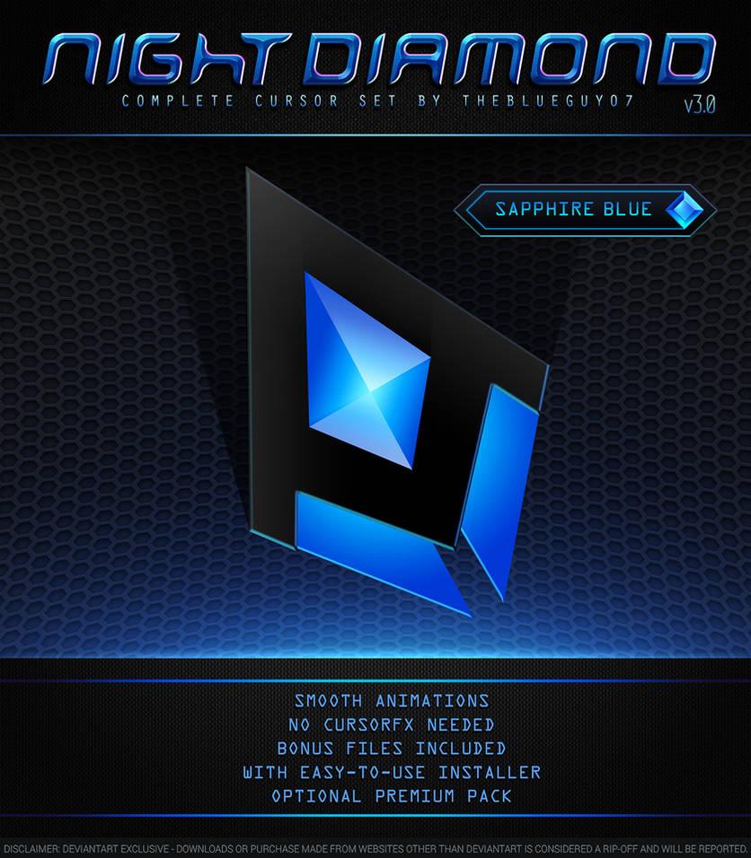 Night Diamond v3 0 | Sapphire Blue by BlooGuy on DeviantArt