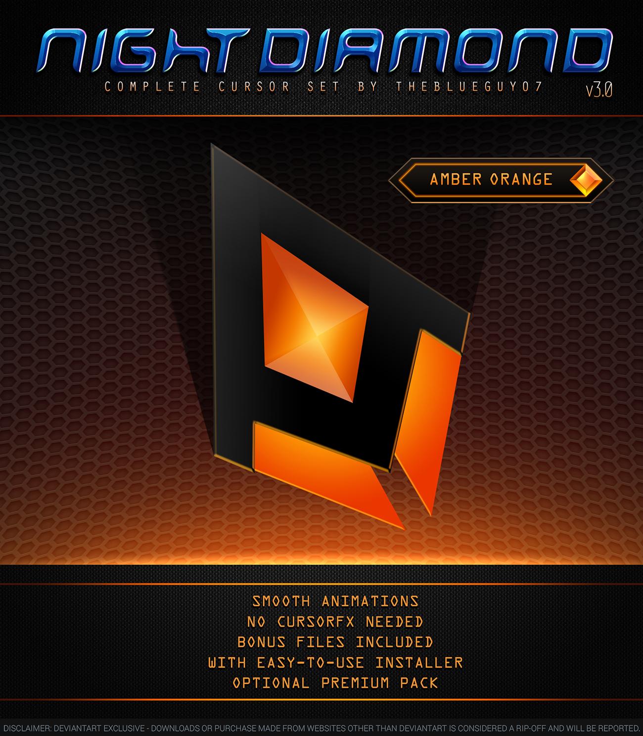 Night Diamond v3.0 | Amber Orange by BlooGuy