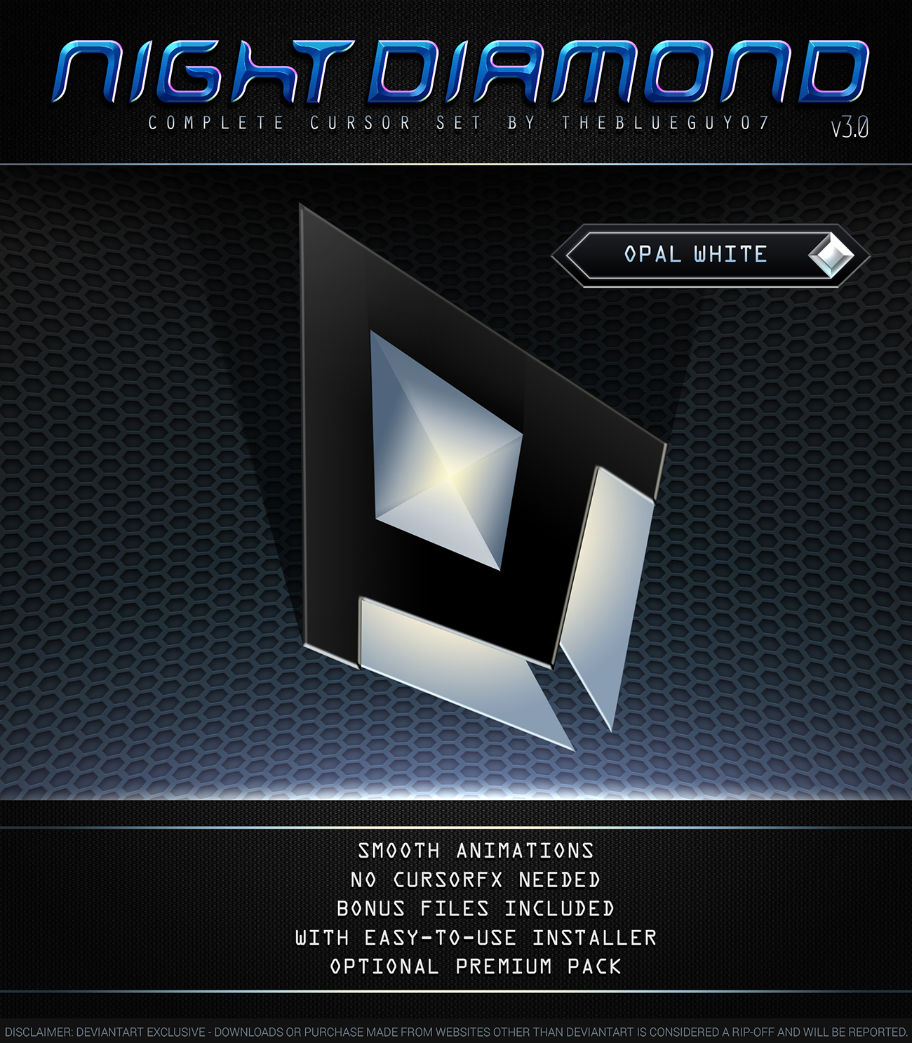 Night Diamond v3.0 | Opal White by BlooGuy