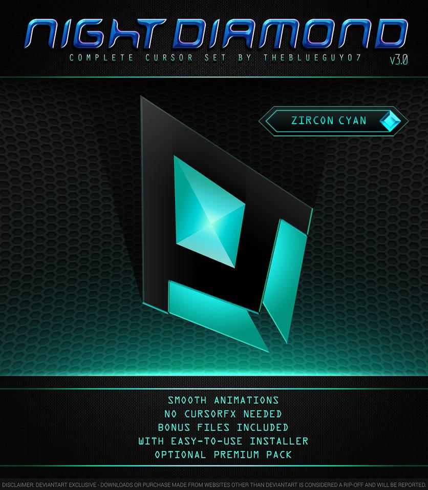 Night Diamond v3.0 | Zircon Cyan by BlooGuy