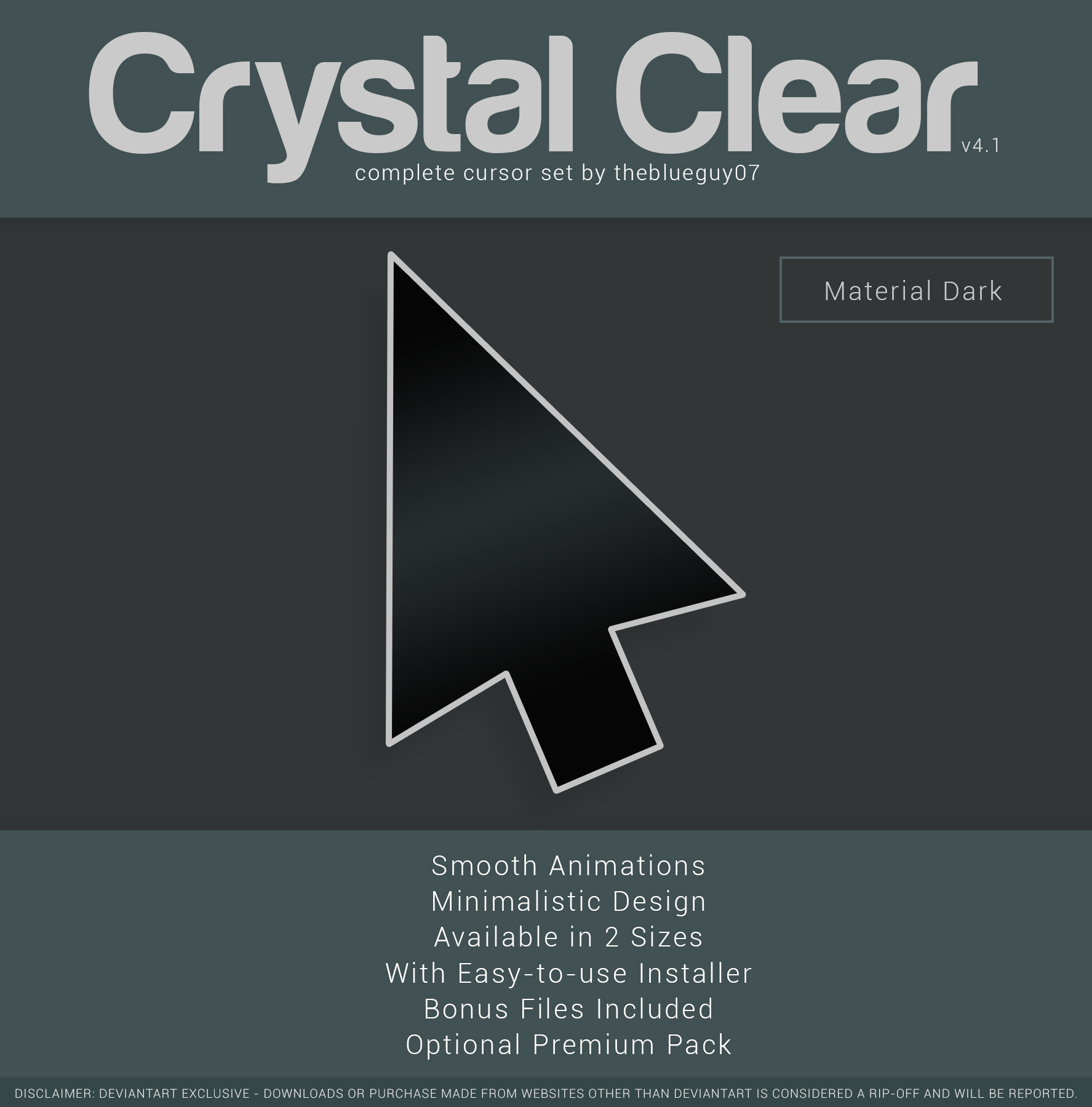 Crystal Clear V4 1 Material Dark By Blooguy On Deviantart