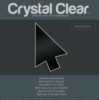 Crystal Clear v4.1 | Material Dark by BlooGuy