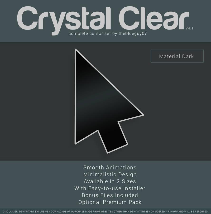 Crystal Clear v4.1 | Material Dark