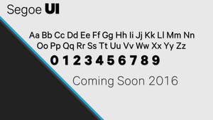 Segoe UI 2016