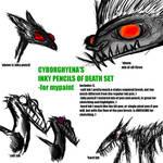 Cyborghyena's brush set