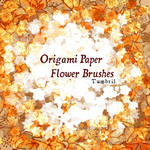 Origami Paper Flower Brushes