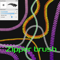 Free Zipper brush for FireAlpaca/Medibang