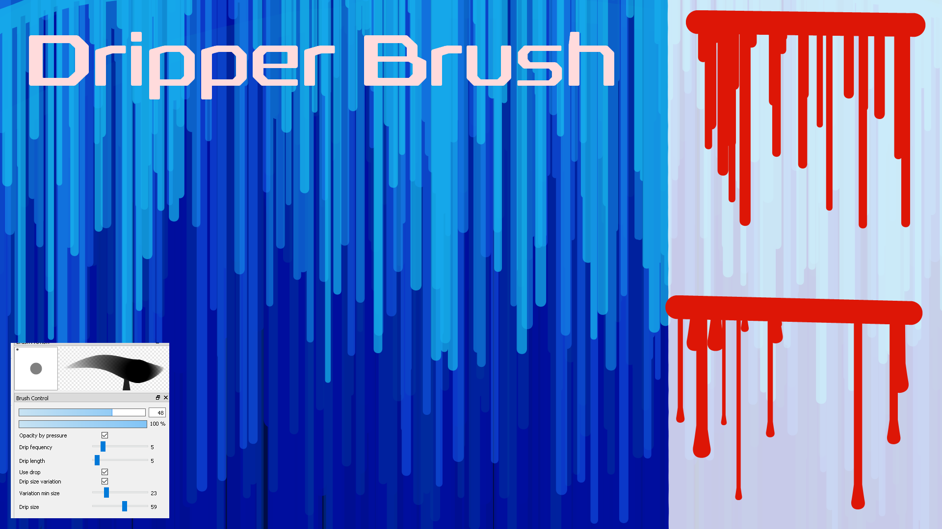 Free Dripper Brush for FireAlpaca/Medibang by Nuubles on