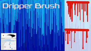 Free Dripper Brush for FireAlpaca/Medibang