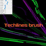 Free Lines brush for Firealpaca/Medibang by Nuubles