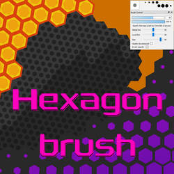 Free Hexagon brush for Firealpaca/Medibang by Nuubles