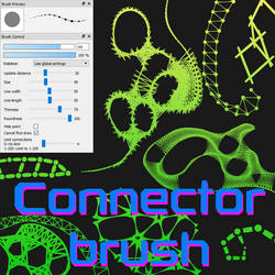 Free Connector brush for FireAlpaca/Medibang by Nuubles