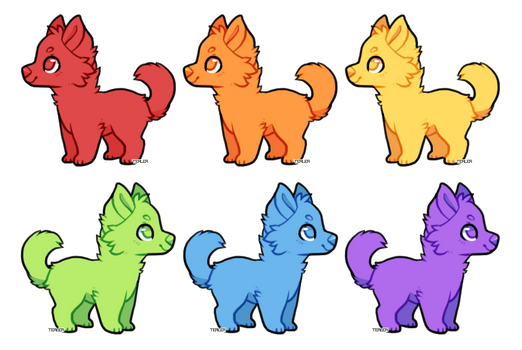 Pups Adopts Editable by Tealea