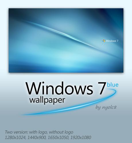 Win7 Blue by nyolc8 Windows 7 Masaüstü Arkaplanı Resimleri