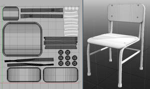 3D School Chair - with 3d file