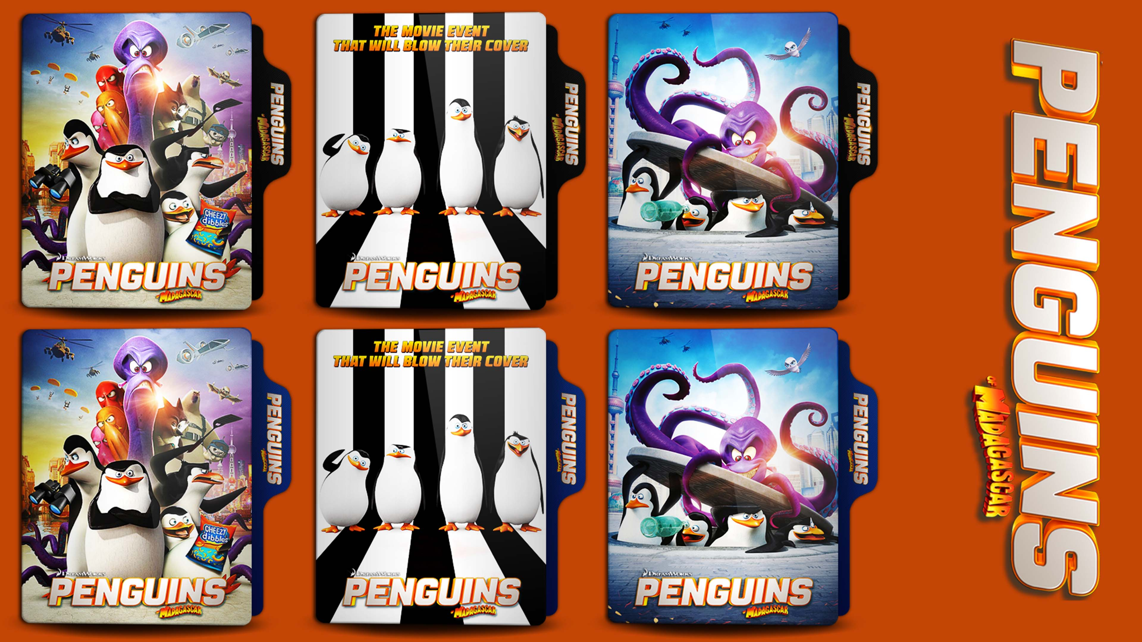 Penguins Of Madagascar 2014 Folder Icon By Hns Rock On Deviantart