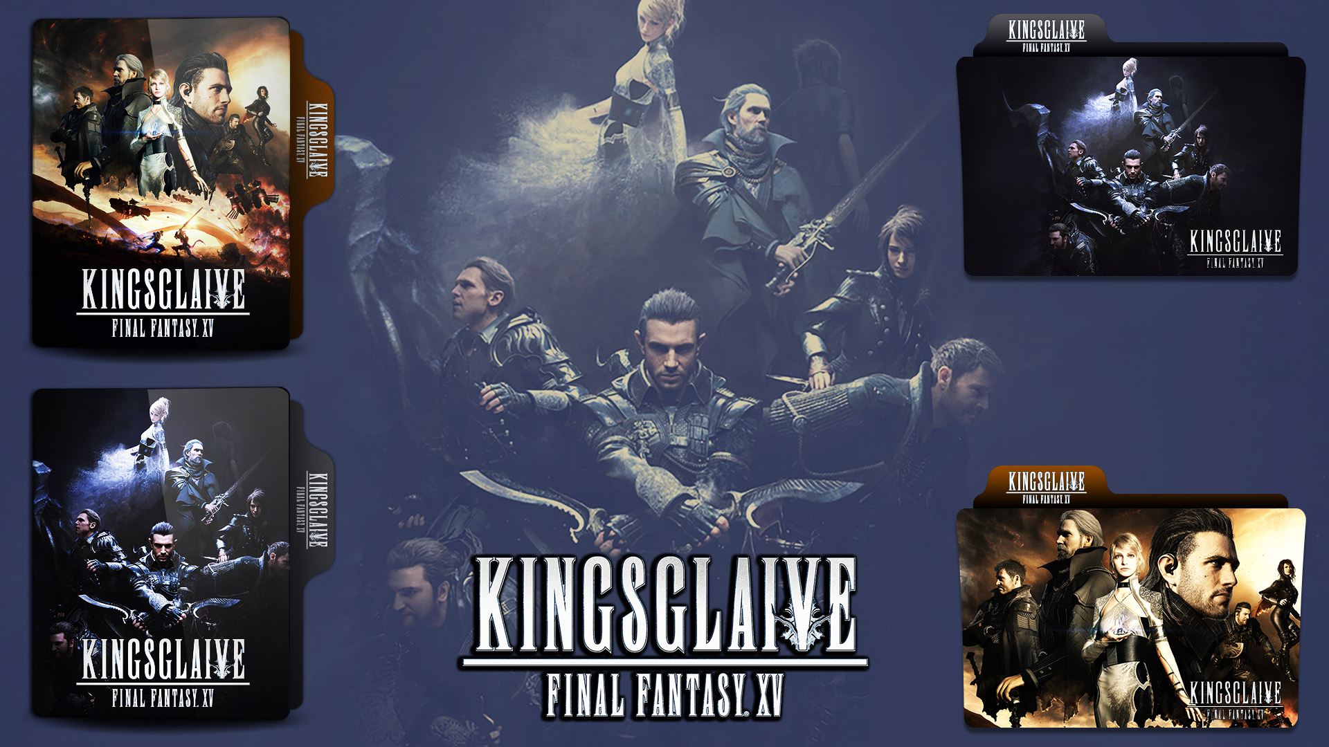 Kingsglaive Final Fantasy Xv 2016 Folder Icon By Hns Rock On