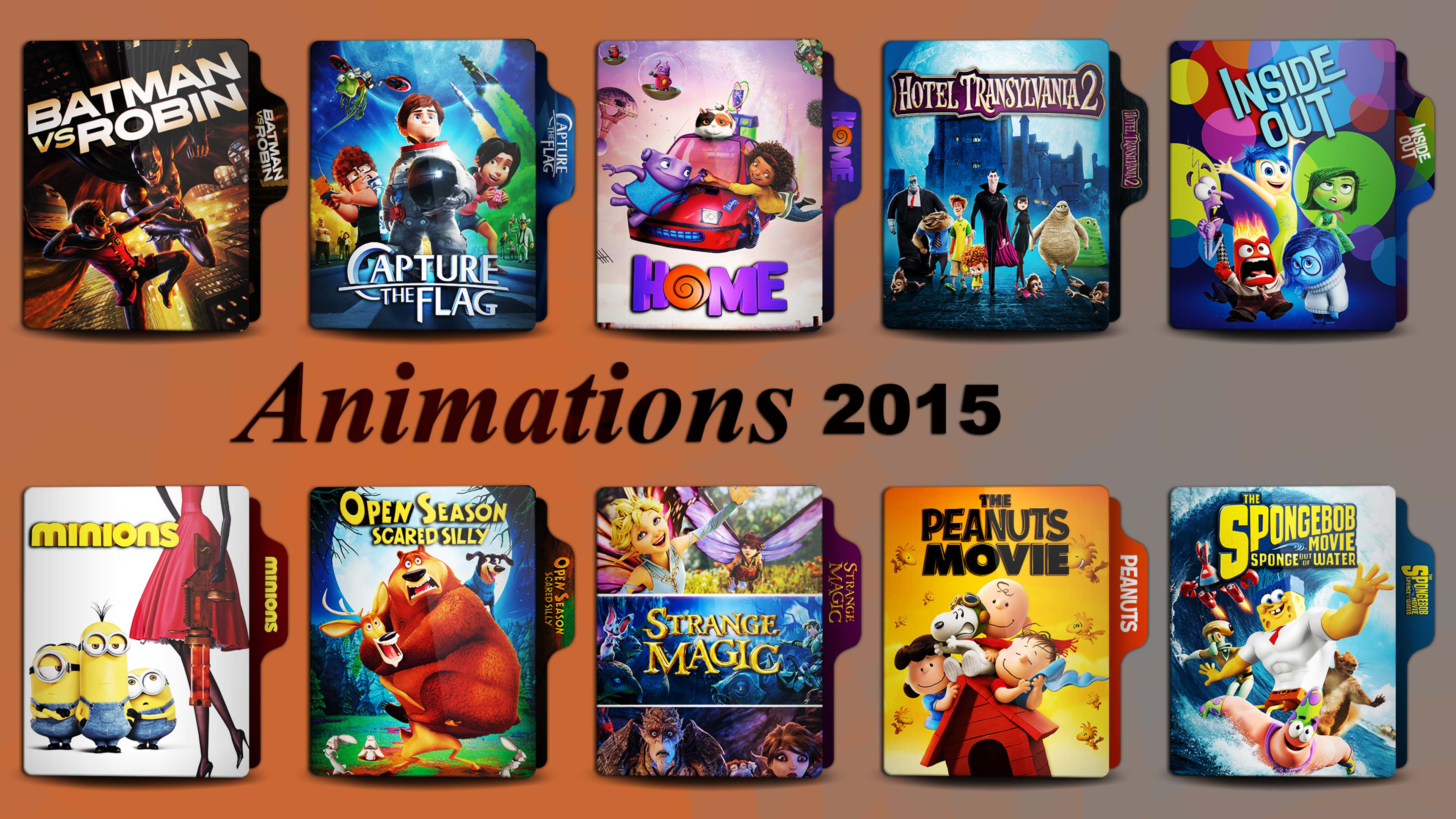 Animation Movies 2015 Folder Icon Pack By Hnsrock