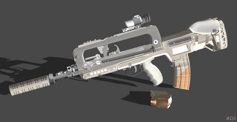 FAMAS - Jerboa (Rigged) by VECTORsan