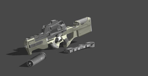 P90 Custom - Mowed Down (Rigged) by VECTORsan