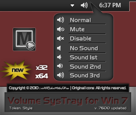 Token Volume Systray for Win 7 by vi20RickrMetal12us
