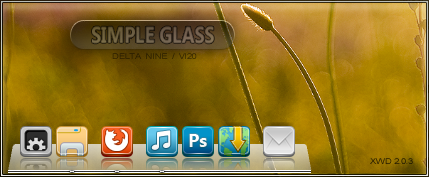 Simple Glass for XWD 2.0 by vi20RickrMetal12us